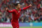 """C.Ronaldo: """"Portugalija turi potencialo laimėti daugiau titulų"""""""