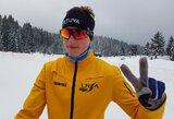 Pasaulio jaunimo slidinėjimo čempionate E.Šimonutis vėl buvo greičiausias tarp lietuvių