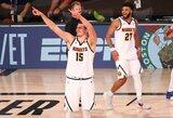 """Fantastika: N.Jokičiaus trigubas dublis, J.Murray 40 taškų ir """"Nuggets"""" pateko į Vakarų finalą"""