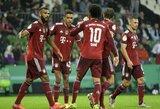 """Net 12 įvarčių varžovams atseikėjęs """"Bayern"""" klubas žengė į kitą """"DFB Pokal"""" taurės etapą"""
