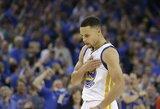 """Pagerintas """"Bulls"""" rekordas: dešimt tritaškių pataikęs S.Curry atvedė """"Warriors"""" į 73-ią pergalę"""