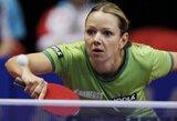 R.Paškauskienė stalo teniso turnyre Čekijoje nugalėjo 19-ą pasaulio raketę, bet nepateko į aštuntfinalį