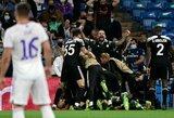"""Čempionų lyga: sensacingas """"Real"""" pralaimėjimas namuose Moldovos ekipai, triuškinantis """"Liverpool"""" laimėjimas ir paskutinę minutę """"AC Milan"""" padovanota pergalė """"Atletico"""""""