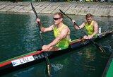 Baidarininkai R.Nekriošius ir A.Olijnikas pasaulio taurės etape Vokietijoje užėmė 5-ą vietą