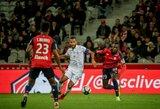 """""""Lille"""" per pridėtą rungtynių laiką išplėšė lygiąsias su """"Reims"""""""