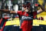 """Smūgis konkurentams: triuškinančią pergalę šventęs G.van Avermaetas tapo """"Tour de France"""" lyderiu (papildyta)"""
