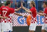Kroatija iškovojo pergalę, Rusija neįveikė Norvegijos