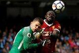 """""""Liverpool"""" pretenzijos nepadėjo: už smūgį vartininkui S.Mane praleis trejas rungtynes"""