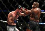"""Imtynės prieš smūgius į kūną? D.Cormier ir S.Miočičius prieš """"UFC 252"""" turnyrą kalbėjo apie galimas taktikas"""