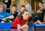 Lietuvos stalo tenisininkių pergalių seriją nutraukė baltarusės