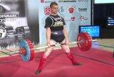 Š.Tolvaiša iškovojo Europos jėgos trikovės čempionato bronzą