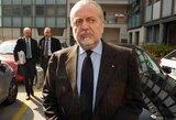 """""""Napoli"""" savininkas A.De Laurentiis: """"Negalima žaisti trijų varžybų per savaitę"""""""