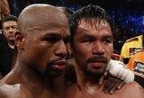 """M.Pacquiao: """"Karjerą noriu baigti kovodamas prieš F.Mayweatherį"""""""
