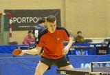 Europos jaunimo stalo teniso čempionate M.Stankevičius nepateko į antrąjį etapą