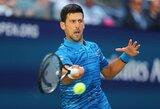 """N.Djokovičius sėkmingai pradėjo """"US Open"""" nugalėtojo titulo gynybą"""