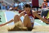Rusijos šuolininkei į tolį T.Kotovai gresia netekti dviejų olimpinių medalių