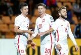 Lenkija sutriuškino armėnus, o R.Lewandowskis ir vėl buvo rezultatyvus