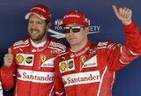 """Sensacija: """"Ferrari"""" užėmė dvi pirmąsias vietas """"Formulės 1"""" kvalifikacijoje!"""