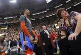 """Su R.Westbrooku susipykęs sirgalius visą gyvenimą nebegalės patekti į """"Jazz"""" areną"""