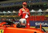"""C.Leclerco dominavimas tęsiasi: """"Ferrari"""" pilotas laimėjo trečią kvalifikaciją iš eilės"""