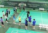 SEB arenoje pirmos atvirosios badmintono treniruotės sutraukė būrius mėgėjų