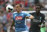 """Pasirengimas sezonui: """"Liverpool"""" krito prieš tris įvarčius mušusius """"Napoli"""""""