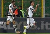 """""""Juventus"""" Italijoje iškovojo ketvirtą pergalę iš eilės"""