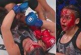 """""""Bellator 220"""": varžovės veidą krauju nudažiusi I.Macfarlane išsaugojo čempionės titulą"""
