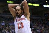 """Pinigų vergas? Dalies pinigų palikti nenorintis J.Noah įstrigo """"Knicks"""""""
