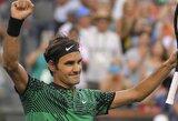 R.Federeris trečią kartą iš eilės įveikė R.Nadalį, N.Kyrgiosas ir vėl palaužė N.Djokovičių