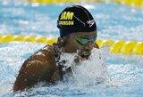 A.Atkinson pasaulio plaukimo taurėje pagerino sezono rekordą