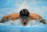 Olimpinėse plaukimo varžybose – trys amerikiečių aukso medaliai ir dar vienas pasaulio rekordas