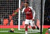 """""""Arsenal"""" puolėjas P.E.Aubameyangas: """"Atiduosime viską, kad iškovotume bilietą į Čempionų lygą"""""""
