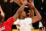 """NBA čempionai pratęsė """"Lakers"""" nesėkmių seriją"""