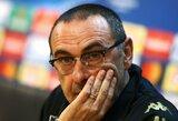 """M.Sarri: """"55 minučių dominavimas prieš geriausią pasaulio komandą suteikia mums vilties"""""""