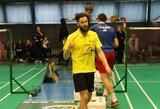 Europos badmintono čempionate – pergalingas K.Navicko startas