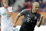 """Vokietijos """"Bundesliga"""": """"Bayern"""" sutriuškino """"Augsburg"""" ir šeštą kartą tapo čempionais"""