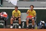 "R.Berankis su partneriu ""Roland Garros"" turnyre neatsilaikė prieš D.Novaką su A.Bedene"