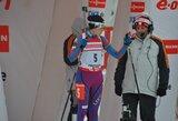 Biatlonininkė N.Kočergina iškovojo pirmuosius taškus Pasaulio taurės varžybose