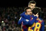 """Debiutinėse Q.Setieno rungtynėse """"Barcelona"""" pergalę lėmė vėlyvas L.Messi įvartis"""