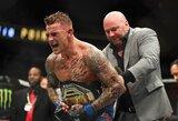 M.Holloway veidą sumaitojęs D.Poirieris užsijuosė laikinąjį UFC lengvo svorio kategorijos titulą ir tapo pagrindiniu pretendentu kovoti su C.Nurmagomedovu