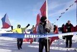 Daugiau nei įspūdinga: 84-erių vyras įveikė itin sudėtingą maratoną Antarktidoje