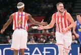 """""""Maccabi"""" nugalėjusi """"Crvena Zvezda"""" turnyrinėje lentelėje priartėjo prie """"Žalgirio"""""""