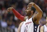 """""""Wizards"""" trečiąkart įveikė dvikovos pabaigoje keistai žaidusią """"Hawks"""""""