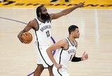 """""""Nets"""" prieš """"Lakers"""" pratęsė savo pergalių seriją"""