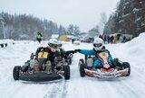 Vilniuje vyko žiemiškos kartingų varžybos