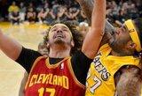 """Klivlendo krepšininkai pratęsė """"Lakers"""" pralaimėjimų seriją"""
