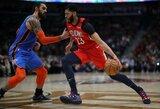A.Davisas prieš geriausią NBA gynybą pelnė 44 taškus
