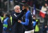 D.Deschampsas nesijaudina dėl K.Mbappe peties traumos