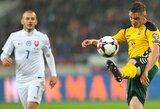 Lietuvos rinktinės vieta FIFA reitinge nepasikeitė